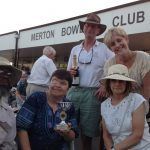 The team photo of MSSC quiz champions at Merton Bowling Club Fun Day 2019.